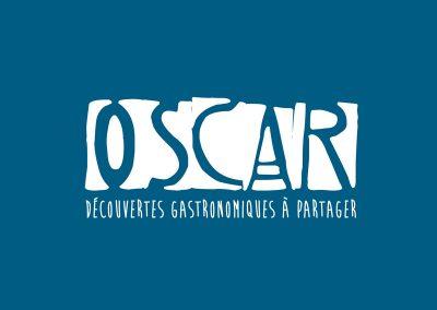 Oscar, logo Mettre en valeur la sonorité d'un prénom.