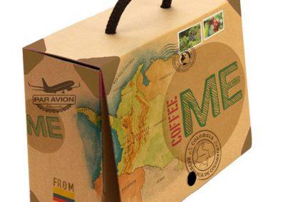 Illustrations et création d'un coffret cadeau pour Coffee shop colombien