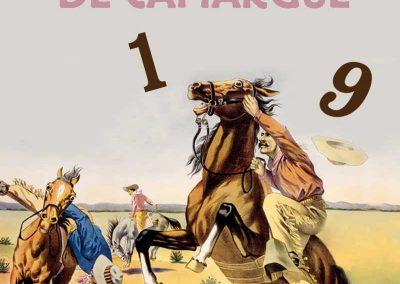 Carte de voeux pour la Manade Jacques Bon (événementiel et hôtellerie)