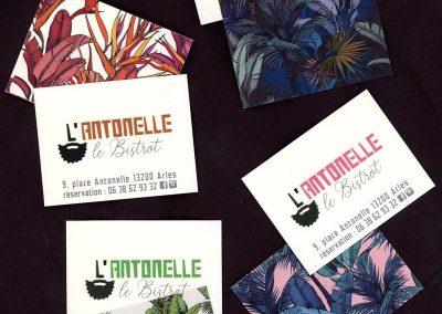 Restaurant l'Antonelle | Identité graphique du restaurant